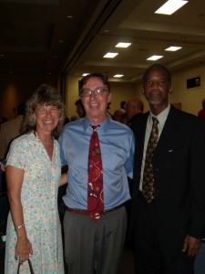 Before the program, with Mike Edmondson, and Public Defender Carey Haughwout.